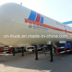 China Sales 3axles 56m3 24mt Gas Distribution Trailer