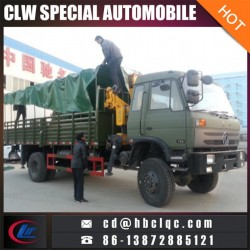 4X4 Military Truck Mounted Crane 3ton Knuckle Crane Truck