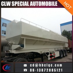 China 50m3 30mt Bulk Feed Trailer Fodder Transportation Tank T