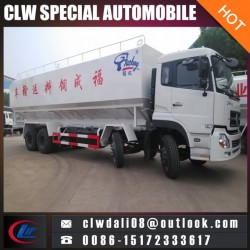 8*4 Bulk Feed Tank Truck, 40cbm Heavy Duty Bulk Feed Truck for