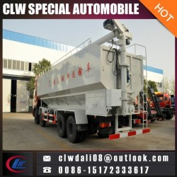 Heavy Duty Puffed and Pelleted Feed Transportation Truck, Bulk Feed