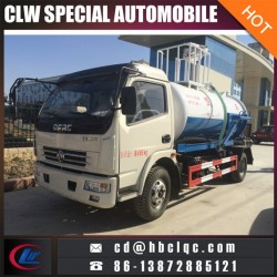 Dongfeng 5000L Water Sprinkle Vacumble Septic Pump Truck Sewer Sucti
