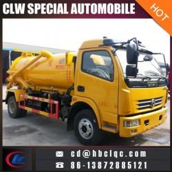 Dongfeng 5ton Vacuum Pump Tank Truck Vacuum Sewage Truck