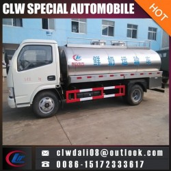 4cbm Milk Tanker Truck, Fresh Milk Transportation Vehicle, Milk Tank
