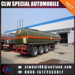 3 Axle Semi Trailer for Corrosive Liquid Delivery, 30cbm Tank Semi T