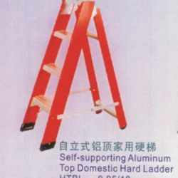 Self-Supporting Aluminum Top Domestic Hard Ladder