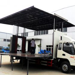 Dongfeng 10 Tons 50 M2 Outdoor Stage Promotion Truck Stage Tru