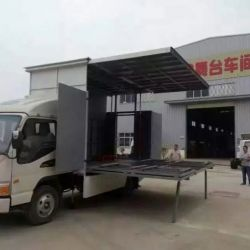 HOWO LED Displaying Adverting Truck Multimedia Truck with Stag