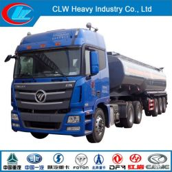 Foton 3 Axle Chemical Liquid Semi Trailer with Tractor