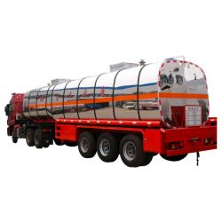New Condition Chemical Liquid Transport Tank Semi Trailer with Tractor