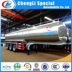 3 Axle Stainless Steel 45000L 30ton Milk Delivery Tank Truck Trailer