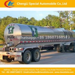 2 Axles Stainless Steel Heat Preservation Fresh Milk Water or Liquid