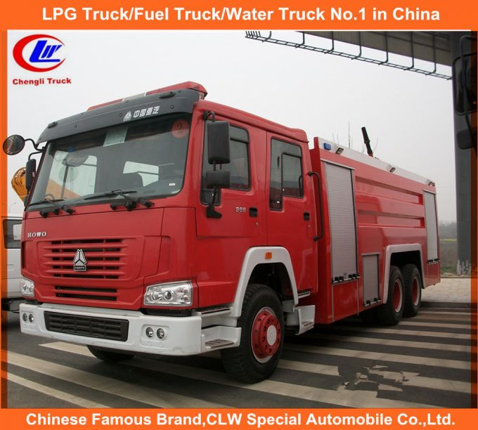 371HP Heavy Duty Sinotruk HOWO Fire Fighting Trucks