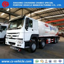 HOWO 8X4 12 Wheeler 18 Ton LPG Gas Transport Tank Trucks on Sale