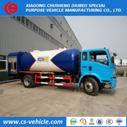 HOWO 4X2 12000liters 12cbm 6tons Propane LPG Gas Cylinder Bobtail for Sale