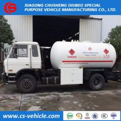 Nigeria Market 8mt 8tons LPG Propane Cooking Gas Bobtail Tanker Trucks with Durable Quality