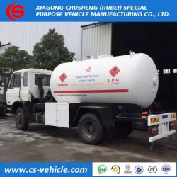 Promotional 15000liters 15cbm 8tons Dongfeng LPG Bobtail Tanker Trucks for Sale