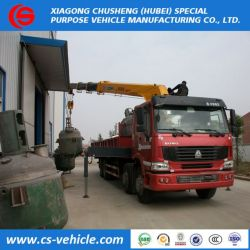 8*4, HOWO Used Truck-Mounted Crane 16tons, Cargo Crane Truck Price
