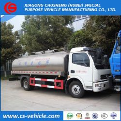 Dongfeng Insulated Milk Tank Truck 8000liters Milk Transport Tank Truck