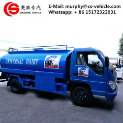 Foton 4X2 6m3 Milk Tanker Truck for Sale