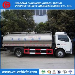 Dongfeng Small Fresh Milk Tank Truck 5m3 Milk Transporter Truck