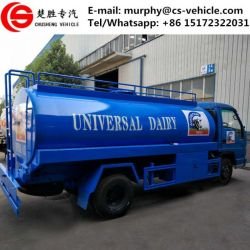 Dongfeng Small Fresh Milk Tank Truck 6m3 Milk Transport Truck