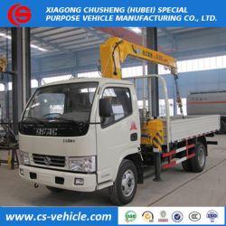 2018 Dongfeng 4X2 5 Tons Telescopic Boom Mini Truck Mounted Crane Price