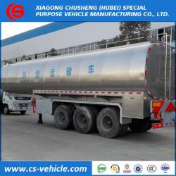 3 Axle 35000L Insulated Milk Transport Tank Semi Trailer