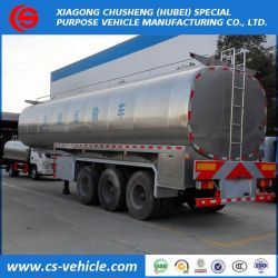 3 Axle 35000L Insulated Milk Tank Semi Trailer