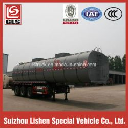 3 Axle 38000L Tank Semi Trailer for Edible Oil with Insulation Function