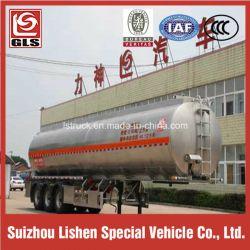 3-Axle 6 Tires 43cbm Aluminum Edible Oil Tank Semi Trailer