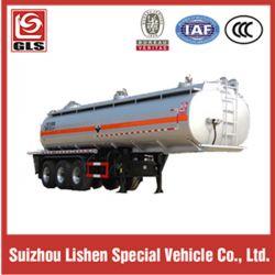 Tri-Axle 28000L Tank Semi Trailer for Carrying Corrosive Liqui