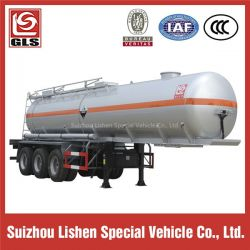 3-Axle 33000L Stainless Steel Tank Semi Trailer for Corrosive