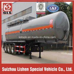Tri-Axle 6 Tires 28000L Chemical Liquid Tank Semi Trailer