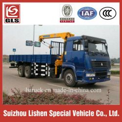 10-15 Tons Crane Truck Sinotruk HOWO 6X4 Mounted Crane for Sale