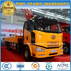 6X4 10 Tons Telescopic Foldable Arm Truck with Loading Crane