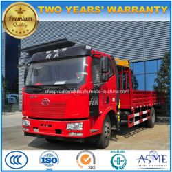 FAW 12 Tons Lorry Truck Mounted with 6 Tons Crane Price