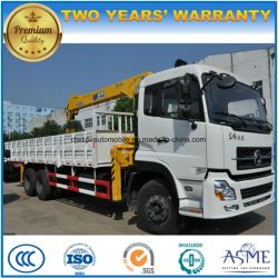 LHD Dongfeng 6*4 10 Wheels High Quality 12 Tons Truck Mounted with Crane Truck