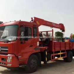 Hot Sale 4*2 Rhd 6 Tons Crane Loading Truck Mounted with Crane
