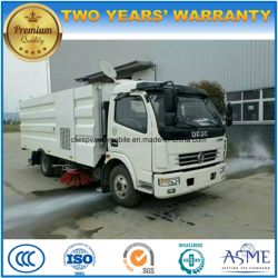 Dongfeng 6 Wheels Vacuum Sweeper 5m3 Street Cleaning Truck