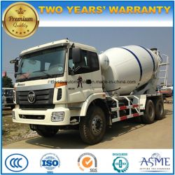 LHD Foton 6 M3 Cubic Meters Cement Mixer Truck for Sale