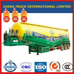 3 Axle 45m3 Bulk Cement Tanker Semi Trailer with Air Compressor and