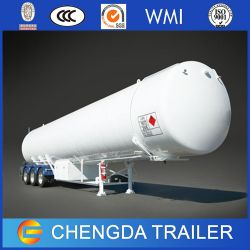 3axles 56.2cbm LPG LNG Storage Tank Semi Trailer for Sale