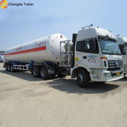 Liquefied Natural Gas Transport 52600L LNG Tank Semi Trailer