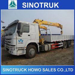 21-30ton 336HP Sinotruk 12ton 6X4 HOWO Crane Truck for Sale