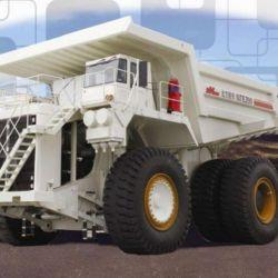 Terex Electric Wheel Mining Dump Truck Model Nte200