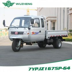 Closed Chinese Cargo Diesel Motorized 3-Wheel Tricycle with Cabin