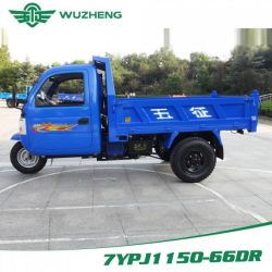 Waw Chinese Closed Cargo Diesel Motorized 3-Wheel Tricycle for