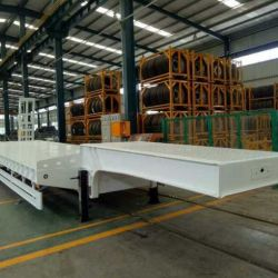 China 3 Axle Plate Low Bed Trailer
