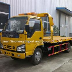 Isuzu 189HP Flatbed Tow Truck /4X2 Wrecker Truck for Factory Price